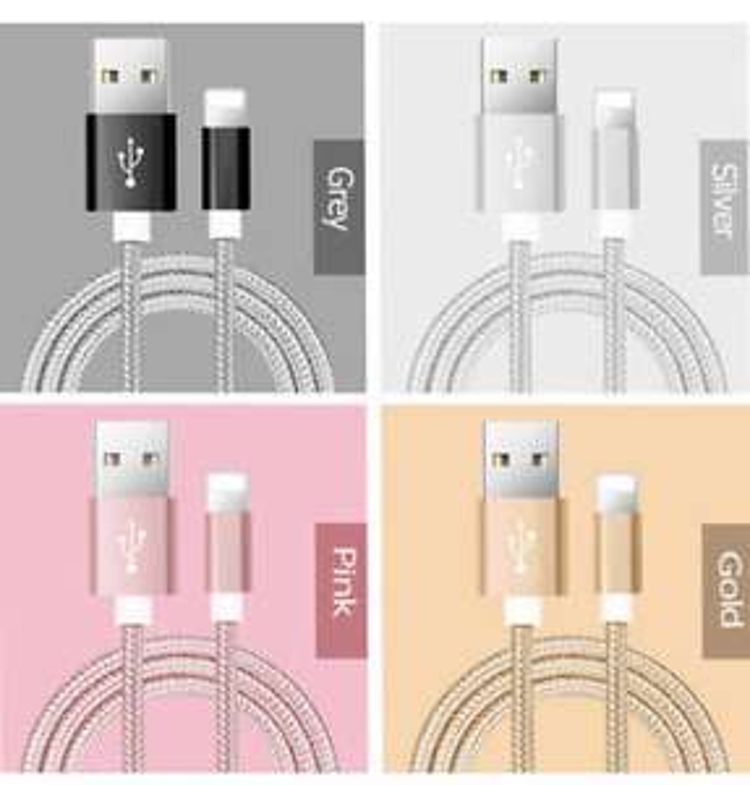 Câble USB Lightning pour iPhone - Charge et transfert de données - 1M (Plusieurs coloris)