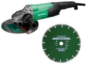 Angle Meuleuse Hikoki-Hitachi G23ST + Disque Diamant Vitre 230mm