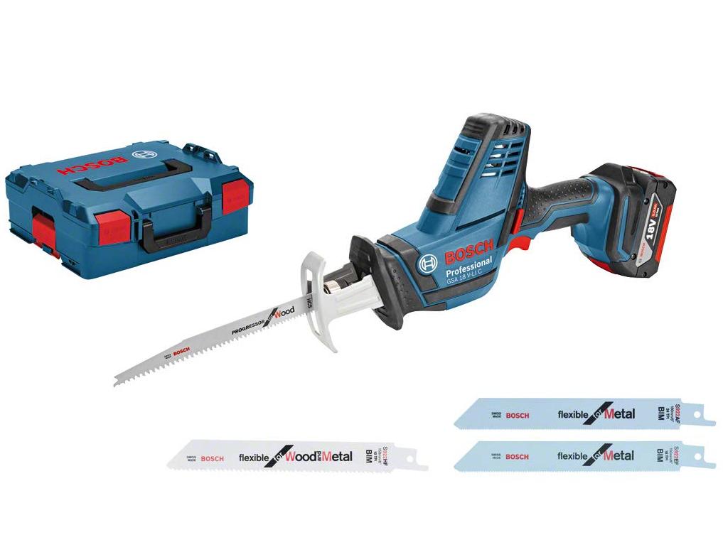 Scie sabre sans-fil Bosch GSA 18 V-LI C Professional 06016A5001- L-Boxx - avec 3 lames (nu, sans batterie, ni chargeur)