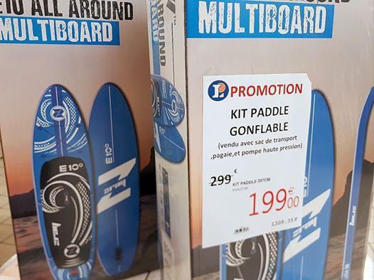 Kit Paddle Gonflable avec Sac de transport, pagaie, pompe (Alistro 20)