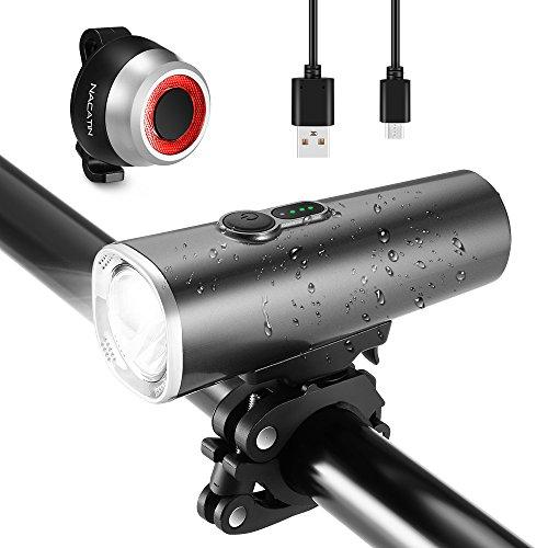 Lampe de Vélo Nacatin USB Rechargeable (vendeur tiers - envoyé par Amazon)