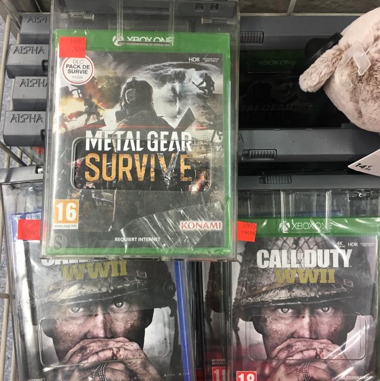 Call of Duty WWII à 20€ et Metal Gear Survive à 8€ sur Xbox One - Carrefour Belle Épine (94)