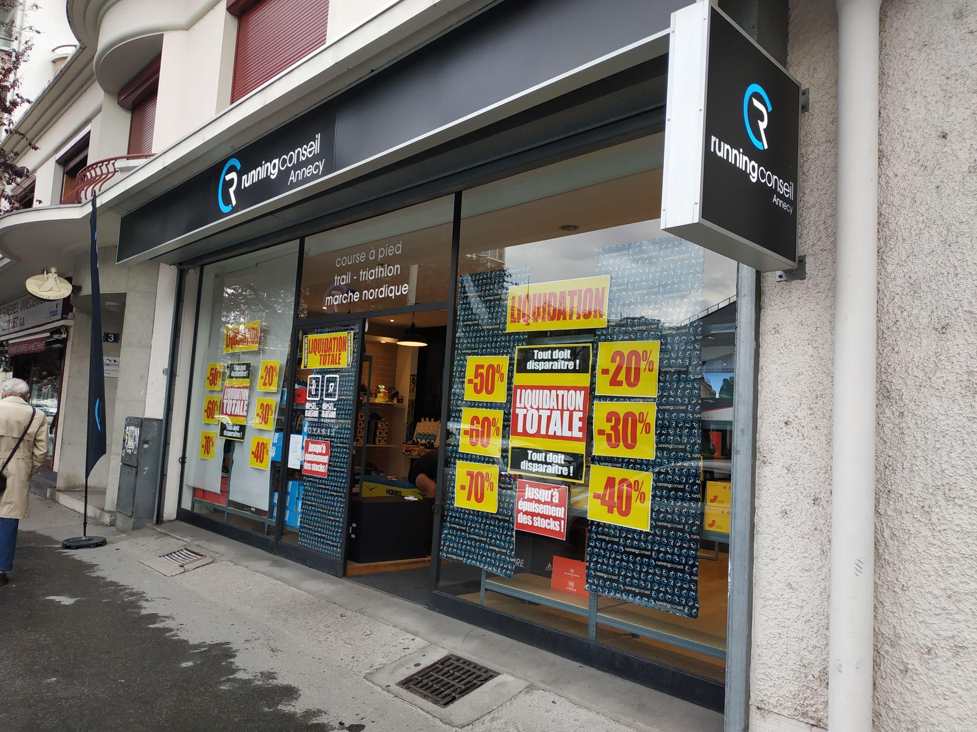 Jusqu'à 70% de réduction sur tout le magasin - Running Conseil Annecy (74)