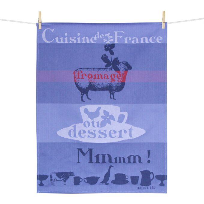 Sélection de Torchons en coton en promotion - Ex: Torchon image Cuisine de France 50x70 cm