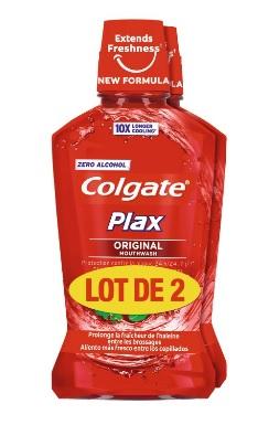 Lot de 2 bains de bouche Colgate Plax Original -  2 x 500 ml, Differentes variétés (via 5,03 € sur la carte fidélité)