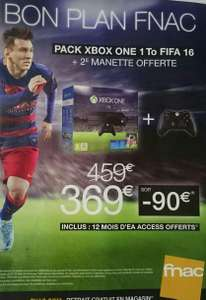 Pack Console Xbox One 1 To + FIFA 16 + 2ème manette + EA Access 1an en magasin ou en ligne