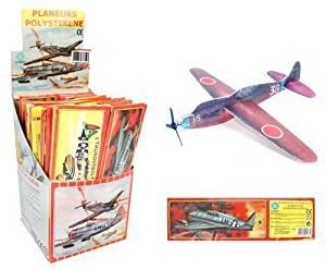 Pack de 12 Avions en polystyrène - 18 cm (Vendeur tiers)