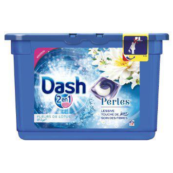 Lessive Dash 2 en 1 Perles (Fleurs de Lotus) gratuite
