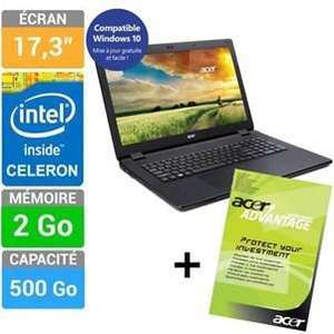 Pack PC Portable Acer Aspire ES1-711-C53G + Extension de Garantie 4 ans