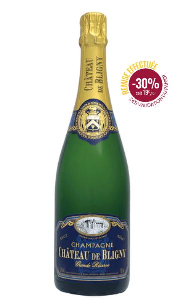 Bouteille de Champagne  Château de Bligny Brut Grande Réserve - 75cl