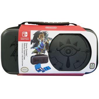 Pochette de transport officielle Zelda pour Nintendo Switch + 2 boîtes de rangement pour jeux + 2 boîtes de rangement pour cartes Micro SD