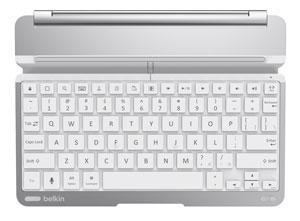 Clavier Belkin sans fil ultra fin pour iPad Air Thin Type - Blanc