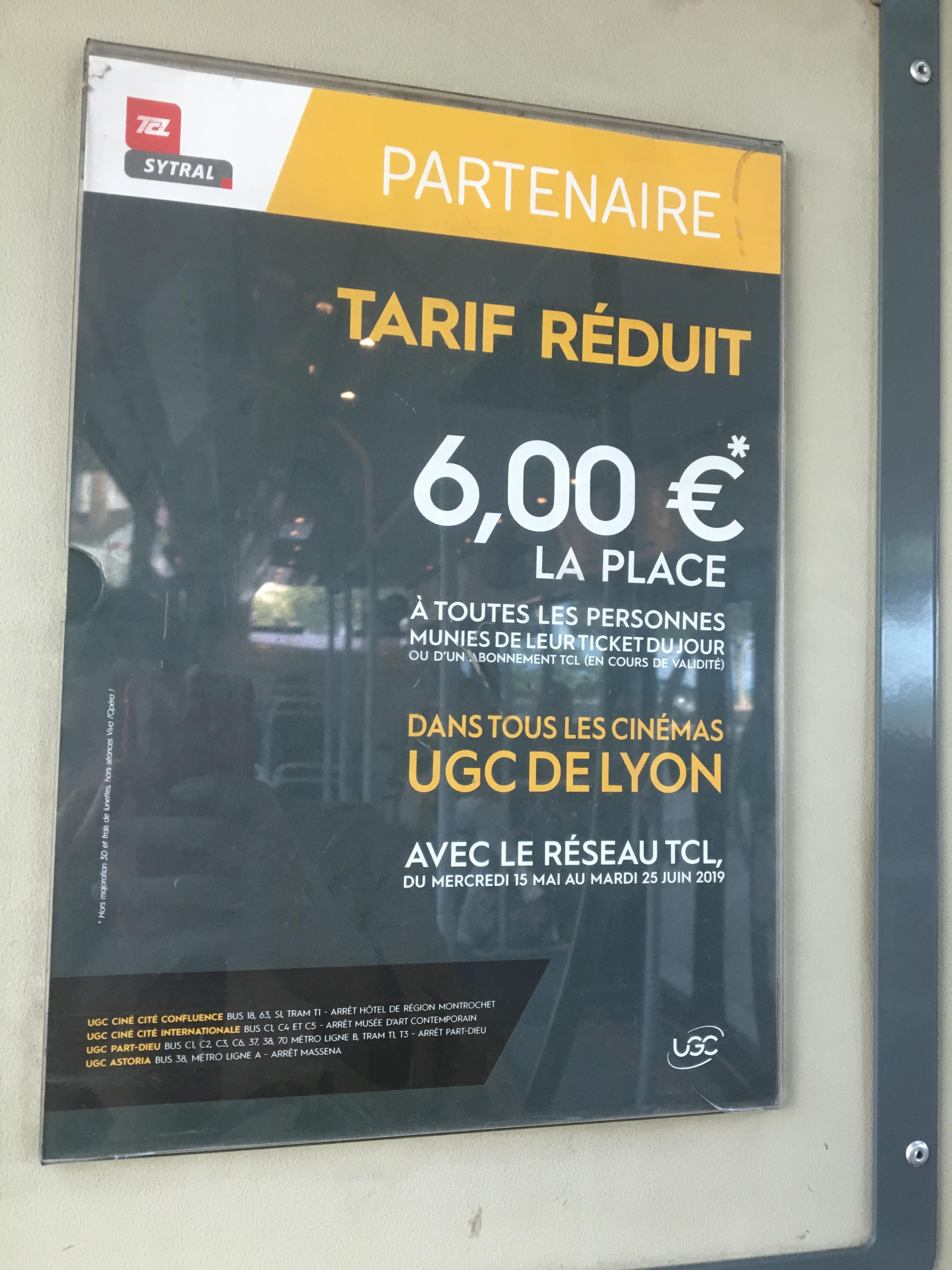 [Ticket du Jour ou abonnement TCL] Place de cinéma (hors 3D, lunettes et Viva l'Opéra) - Lyon (69)