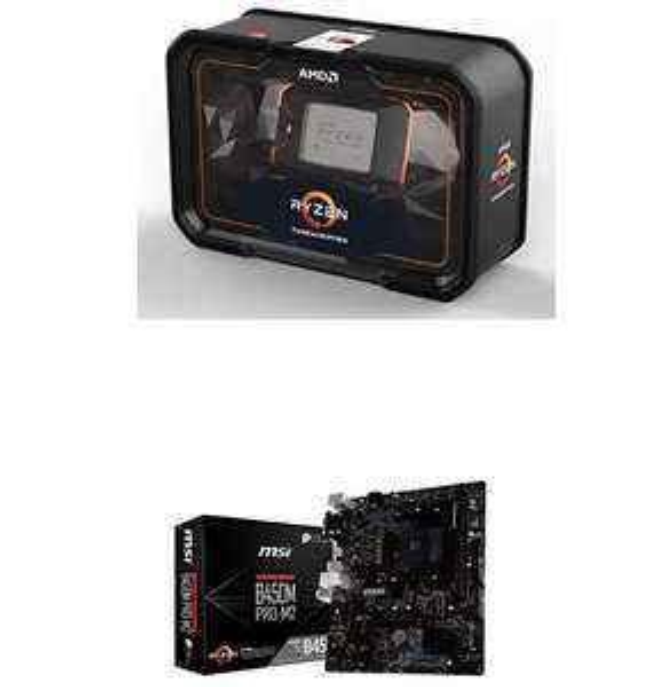 Processeur AMD Ryzen Threadripper 2950X + Carte mère MSI B450M Pro-M2 - Socket AM4