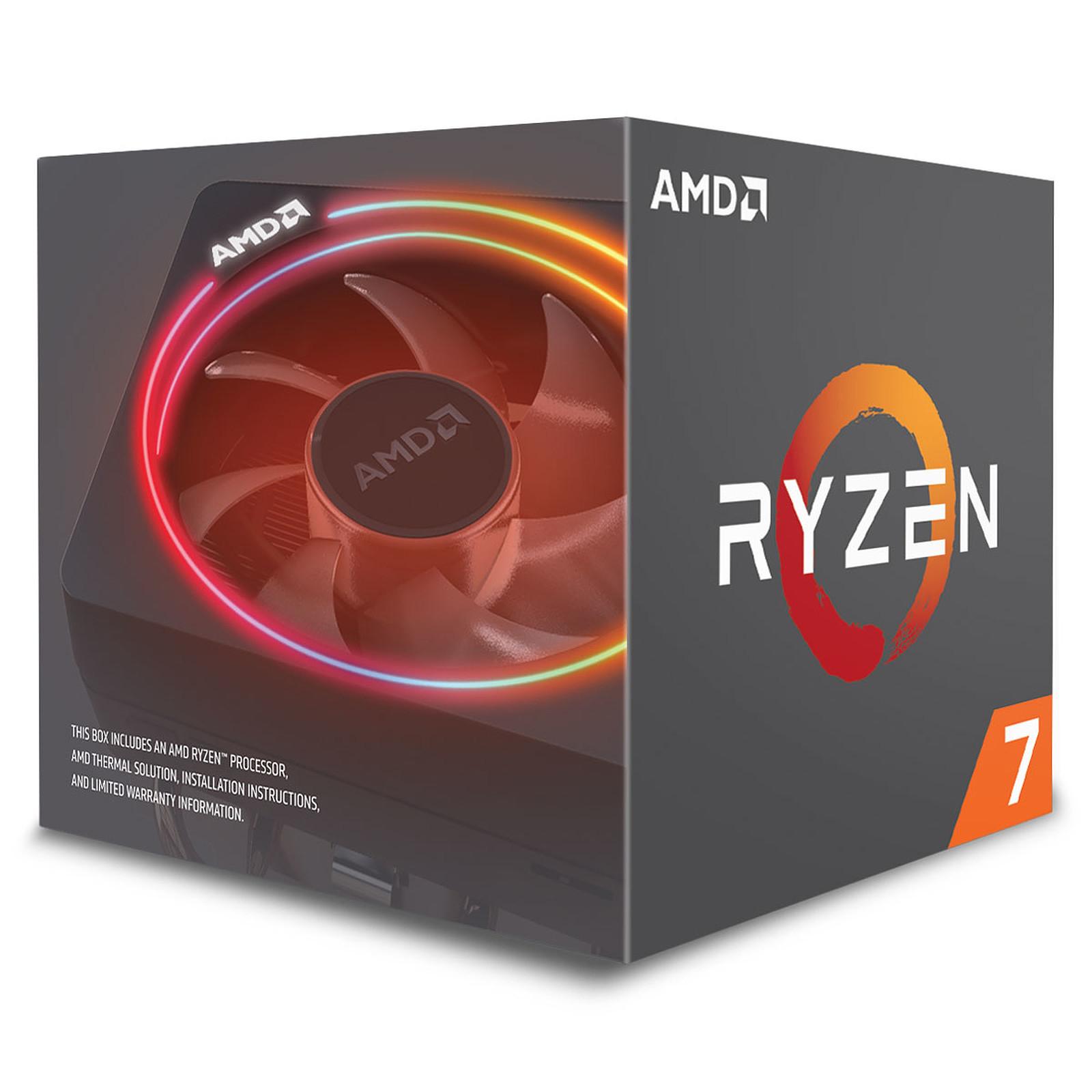Processeur AMD Ryzen 7 2700X Wraith Prism Edition (3.7 GHz) + Jeux PC The Division 2 & World War Z offerts