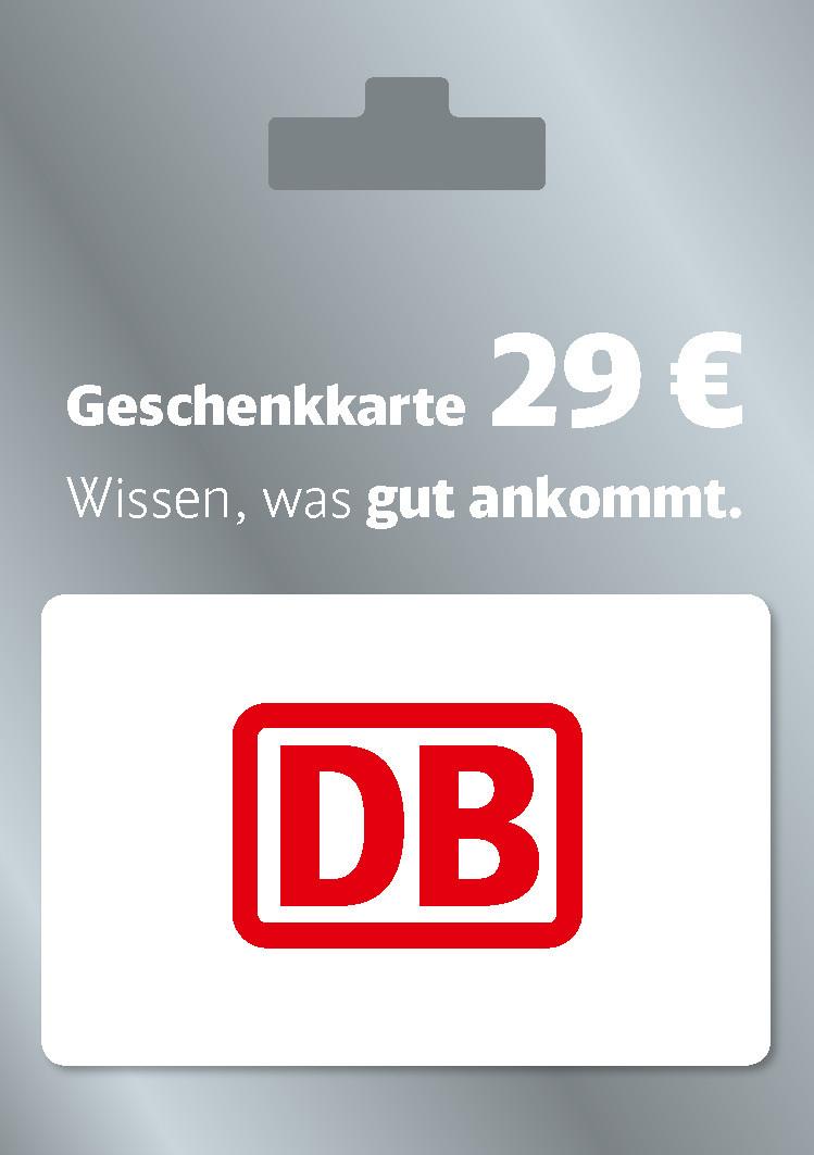 Bahn Card de 29€ valable sur les billets de train Deutsche Bahn pour 25€ - Dématérialisé (Penny.de - Frontaliers Allemagne)