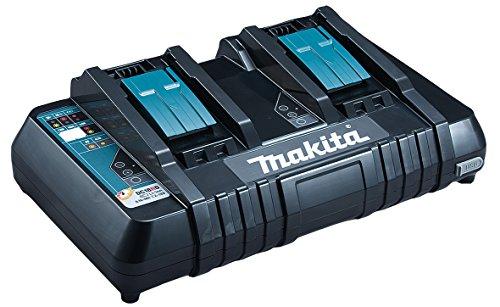 Chargeur rapide double Makita pour 2 batteries Li-ion/Ni-Mh (DC18RD)