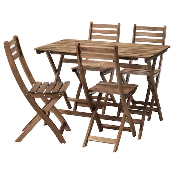 [Carte Family] Sélection d'articles en promotion - Ex: Table + 4 chaises en extérieur Askhomlen (teinté gris brun)