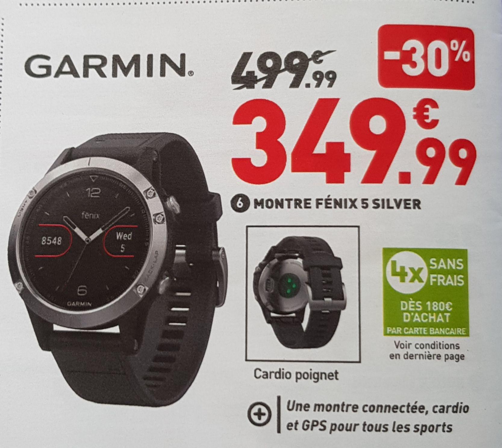 Montre connectée GPS multisports Garmin Fenix GR - offre national