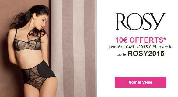 10€ de réduction dès 40€ d'achat sur la vente Rosy