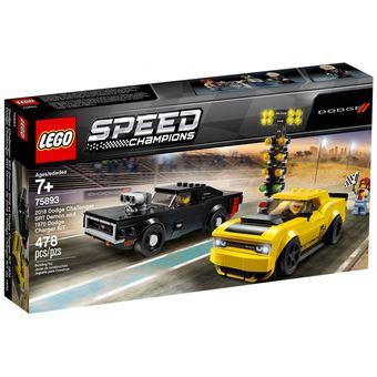 Sélection de Lego Speed Champions en promotion - Ex: Jouet Lego 75893 Dodge Challenger SRT Demon 2018 et Dodge Charger R/T 1970