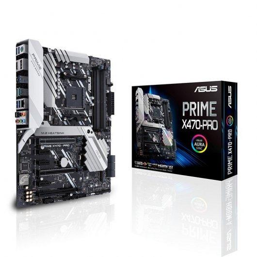 Carte Mère Asus Prime X470-Pro - AMD Ryzen X470, Socket AM4, ATX, 4 Slots mémoire DDR4 3600 MHz (O.C.) Dual-Channel