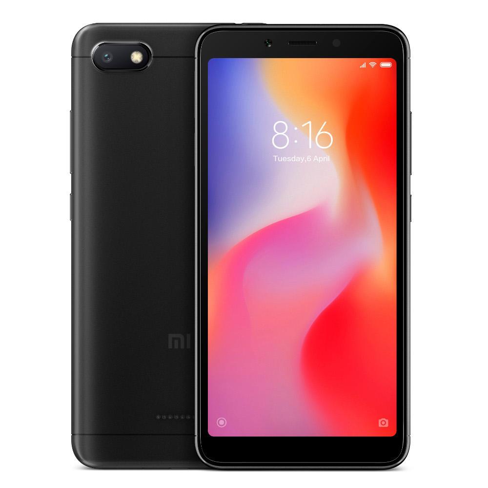 "Smartphone 5.45"" Xiaomi Redmi 6A - HD+, Helio A22, 2 Go de RAM, 16 Go, 4G (B20), différents coloris"