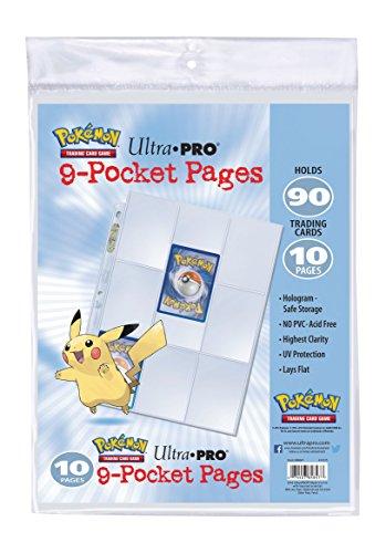 [Panier Plus] Paquet De 10 Feuilles De Classeur Pikachu Asmodee - 84847 (Version Française)