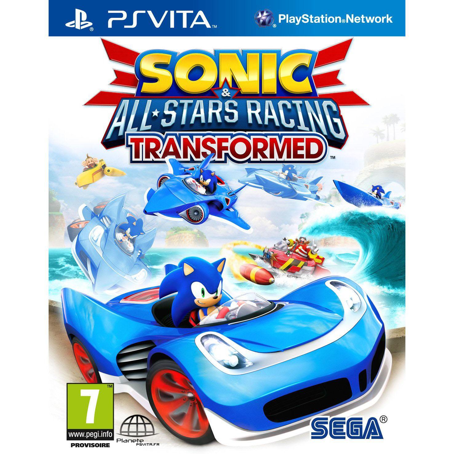 Sega Sonic All Stars Racing Transformed sur PS Vita
