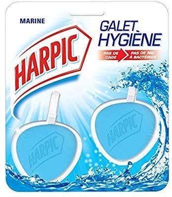 [Panier plus] Pack de 2 blocs nettoyant WC Harpic Galet Hygiène Marine