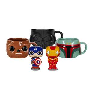 Lot Pop! Home - 3 Mugs Star Wars (Darth Vader/ Boba Fett/ Chewbacca) + Salière-Poivrière (Iron Man/ Captain America)