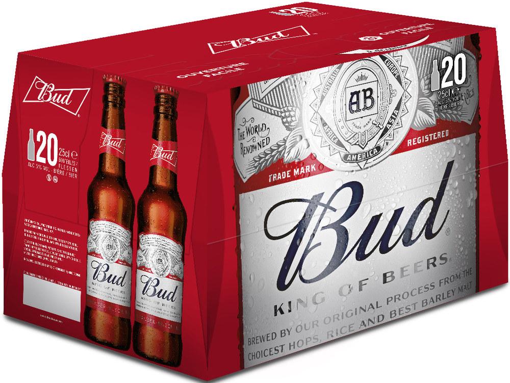 Lot de 3 Packs de bière Bud - 20 x 25 cl
