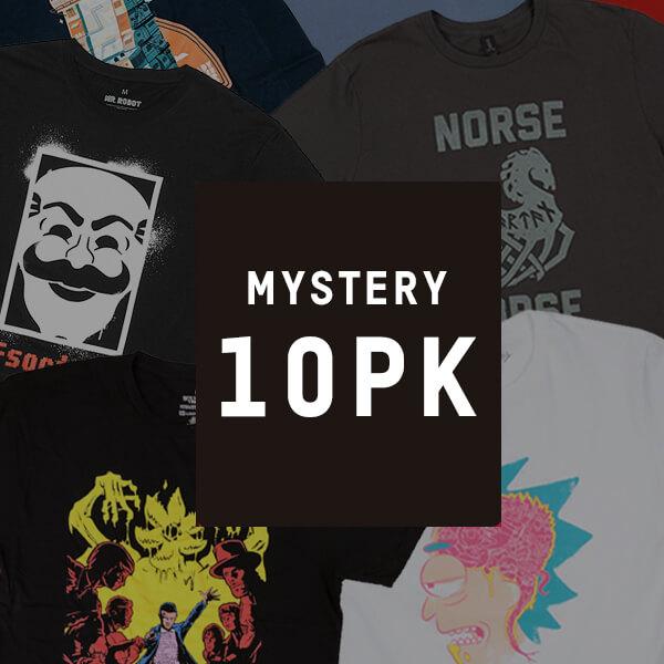 Lot  de 10 T-shirts geek mystères + Z-BOX gratuite