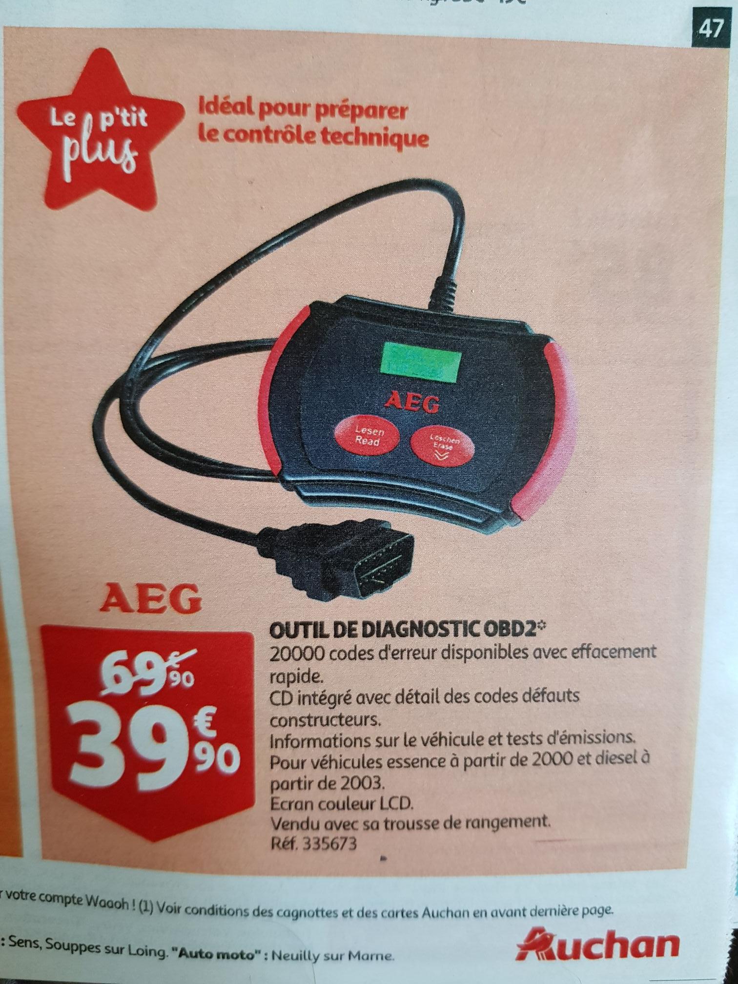 Outil de diagnostic AEG ODB2