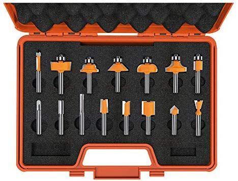 Coffret de 15 Fraises droites et profil s dx hw 8 CMT Orange Tools 900,001,00