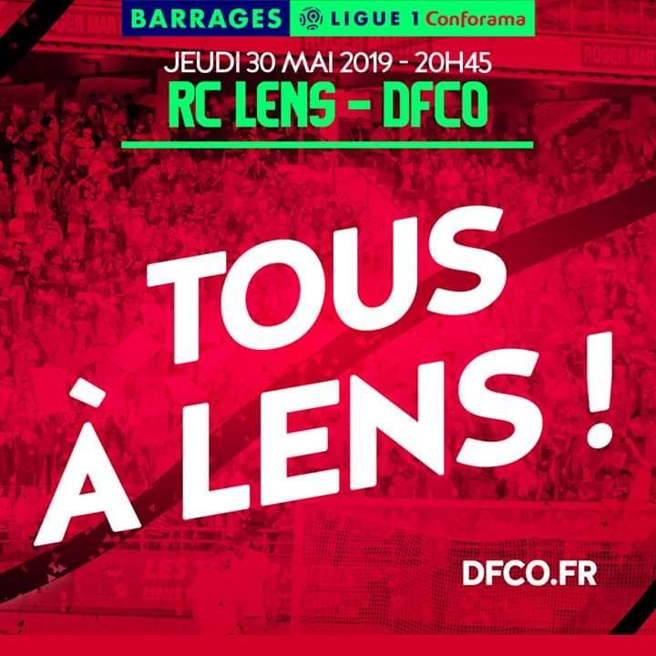 [Supporters de Dijon] Place Gratuite pour le Match de Football Lens <-> Dijon en Parcage Visiteur le Jeudi 30 Mai 2019 - Lens (62 - dfco.fr)
