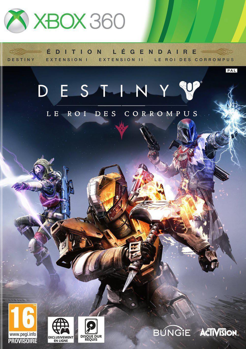 Jeu Destiny : le roi des corrompus sur Xbox 360/PS3 - Edition légendaire