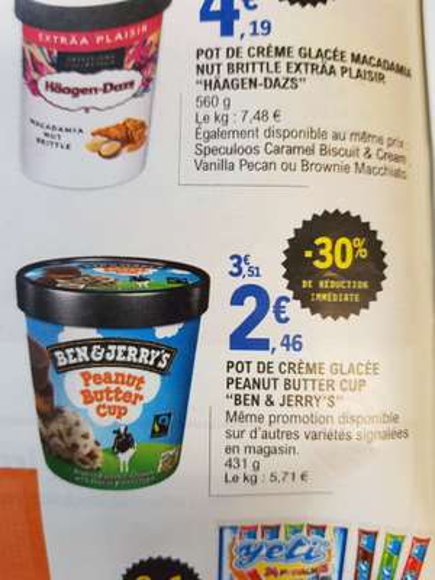 4e6df55fbab68 Pot de crème Ben and Jerry s Peanut Butter (Différentes variétés) - 431gr