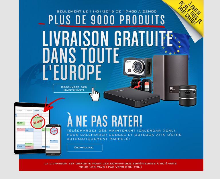 livraison gratuite dès 50€ d'achat pour toute commande effectuée de 17h à 22h
