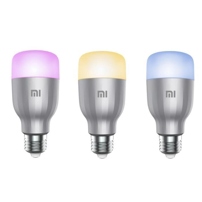 Lot de 3 ampoules LED connectées Xiaomi - RGBW, 3x6 W, Wi-Fi