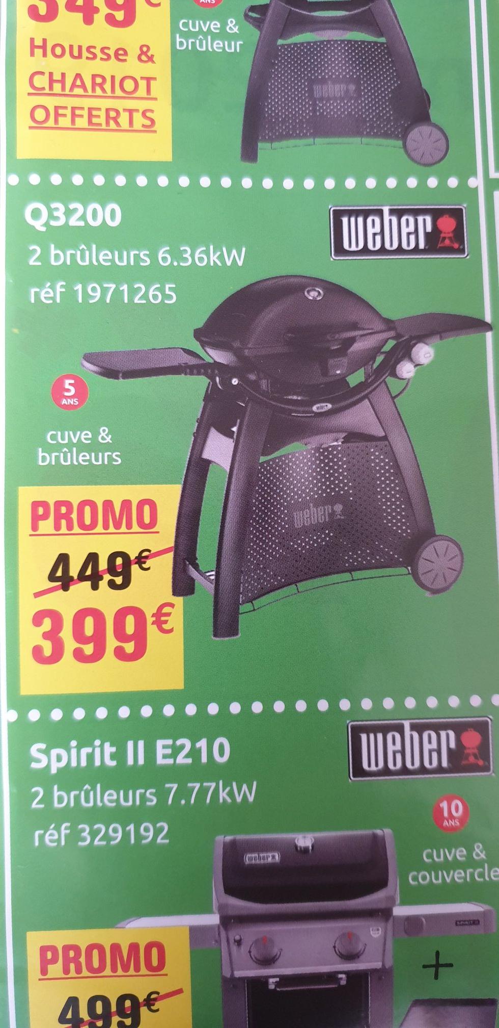 Barbecue à gaz Weber Q3200 - Erstein, Obernai et Wissembourg (67)