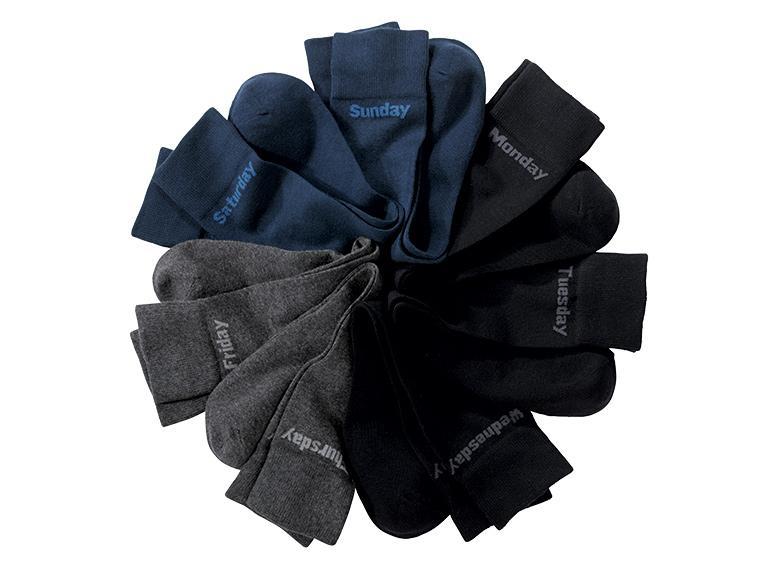 Lot de 7 paires de chaussettes Livergy homme 78% coton + Lycra 1% - Différents coloris