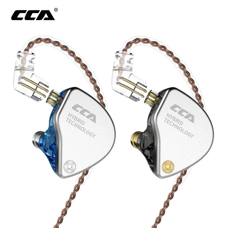 Écouteurs intra-auriculaires CCA CA4 (1BA+1DD) - bleu ou noir