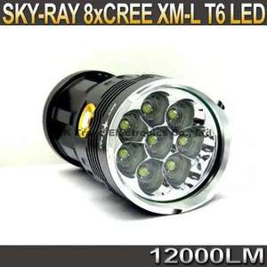 Lampe Torche Budget Sky Ray King 8x T6 (12000 LM)