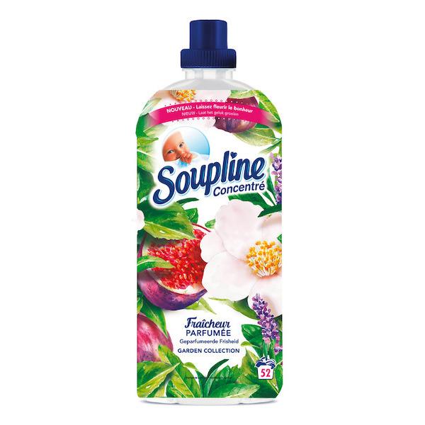 2 Assouplissants concentrés Soupline - Différentes variétés, 52 lavages, 1,2L