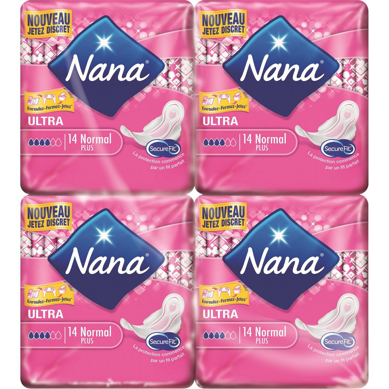8 paquets de serviettes hygiéniques Nana