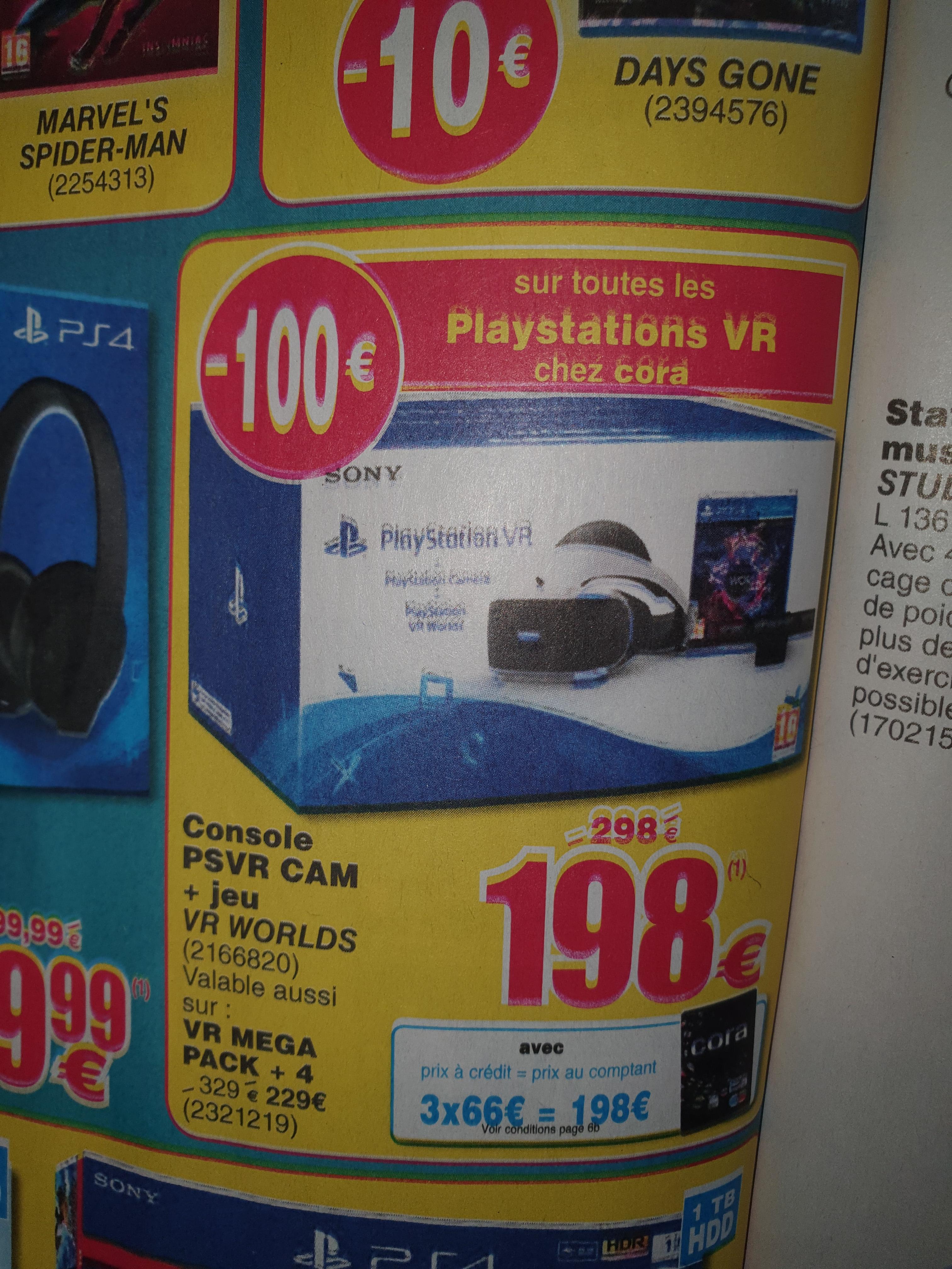 100€ de réduction sur les Packs PlayStation 4 VR - Ex : Mega Pack PS VR (La Louvière - Frontaliers Belgique)