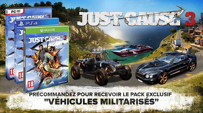 [Précommande] Just Cause 3 sur PS4 et Xbox One