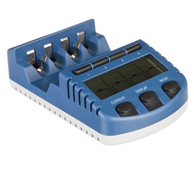 Chargeur de piles universel ultra rapide Lacrosse RS1000 - Ecran LCD, Fonction déchargement et test