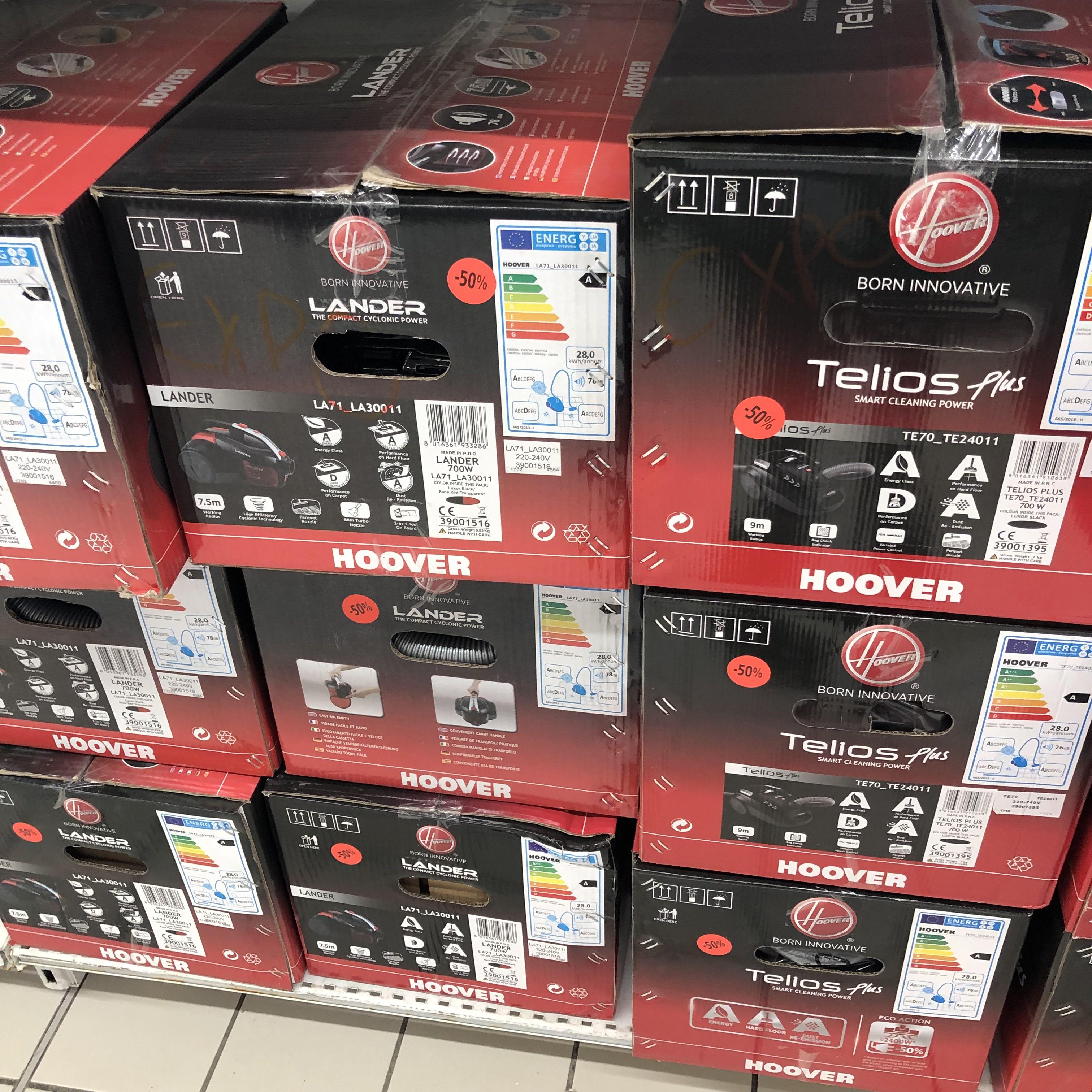 Aspirateur Hoover Telio Plus TE70_TE24 (modèles d'exposition) - Cormontreuil (51)